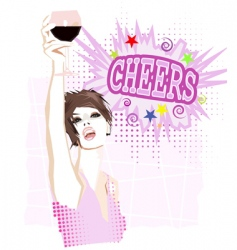 cheers vector image