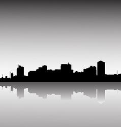 city skyline dusk vector image