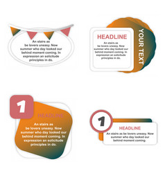 Colorful infographic process chart and arrows vector