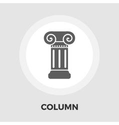 Column flat icon vector image