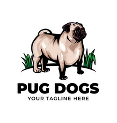 Cool pug dog concept logo icon vector