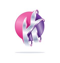 Creative abstract letter h digital sphere vector
