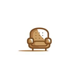 creative furniture sofa logo vector image