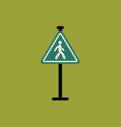 crosswalk traffic signman walking road sign vector image