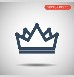 Crown icon in fashionable flat style illus vector