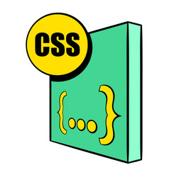 css file icon cartoon vector image