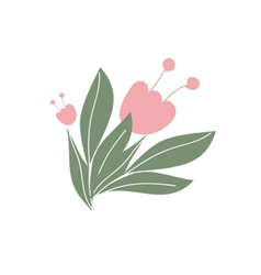 Cute floral bouquets and wreaths vector