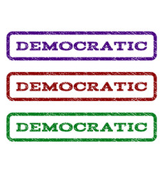 democratic watermark stamp vector image