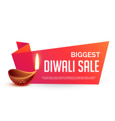 diwali sale voucher background in bright colors vector image