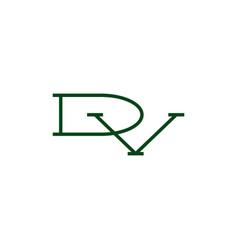 Dv letter mark initial logo icon vector