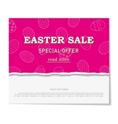 Easter sales with special offers vector