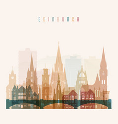 Edinburgh skyline detailed silhouette vector