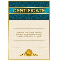 Elegant template of certificate diploma vector image