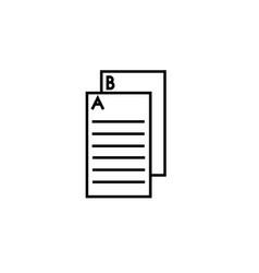 Exam icon vector