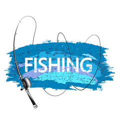 Fishing rod and blue wave vector