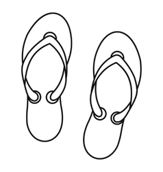 Flip flop sandals icon outline style vector image