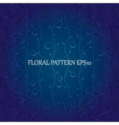floral blue background vector image