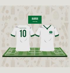 Football saudia arabia sport wear tshirt vector