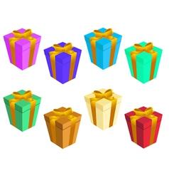 gift boxs vector image