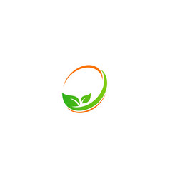 Green leaf beauty organic logo vector