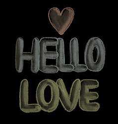 hello love vector image