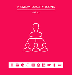hierarchy - line icon graphic elements for your vector image