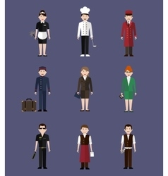 Hotel Staff Flay People vector image