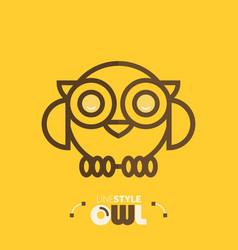 Line style owl vector