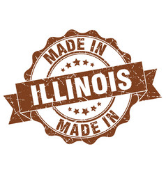 made in illinois round seal vector image vector image