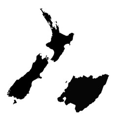 Map new zealand and wellington country and vector