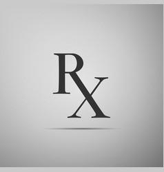 Medicine symbol rx prescription icon isolated vector