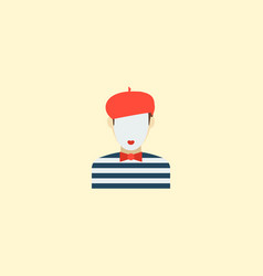 mime icon flat element of vector image