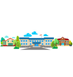 Modern school buildings exterior student city vector