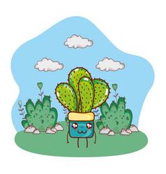 nature plant cartoon vector image