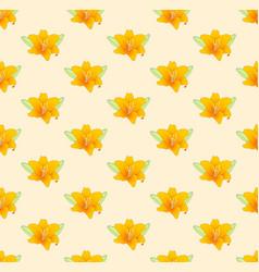 orange lily on beige ivory background vector image