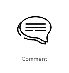 Outline comment icon isolated black simple line vector