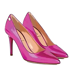 Pink heels vector