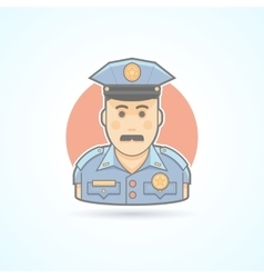 Police officer icon Avatar and person vector