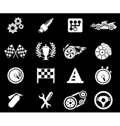 Racing icons vector image