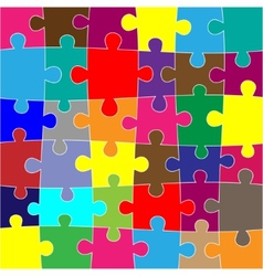Red puzzle background vector image