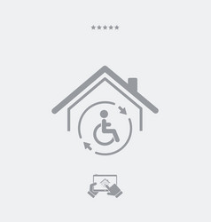 Residential handicap assistance - web icon vector