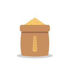 Rice sack icon in flat style vector