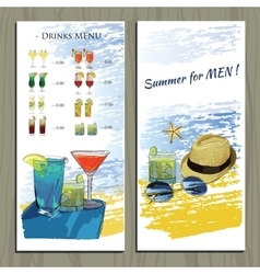 set hand drawn booklet for Cocktail party vector image