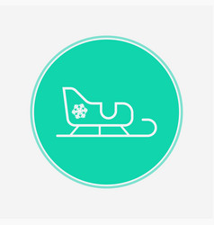 sled icon sign symbol vector image