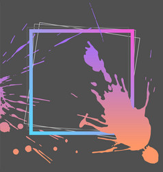 splash ink frame template gradient art vector image