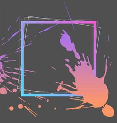 splash ink frame template gradient art vector image