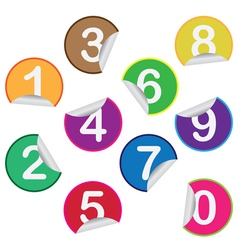 Stickers with numbers vector image