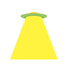 Ufo isolated space invader alien ship vector