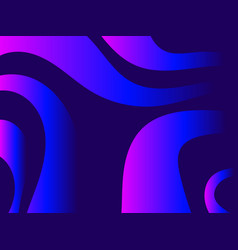 waves with liquid gradien abstract background vector image