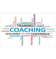 word cloud coaching vector image vector image